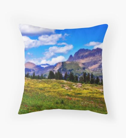 Glacier Wildflowers - Orton Series Throw Pillow