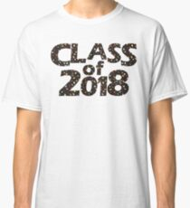 Class of 2018 Black Silhouette Filled with Guitars Classic T-Shirt