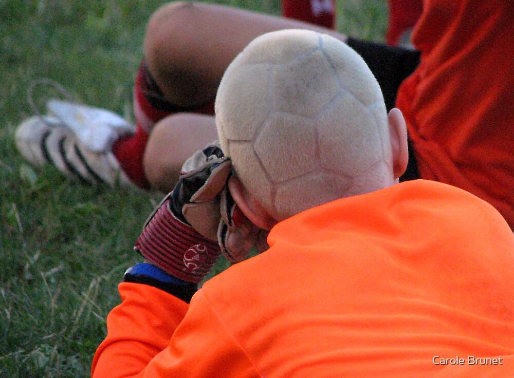 Soccer Ball Head by Carole Brunet