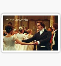 Pride and Prejudice - Most ardently Sticker