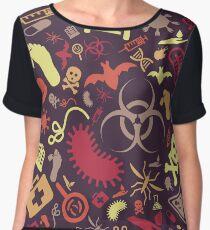 Plague Pattern Women's Chiffon Top