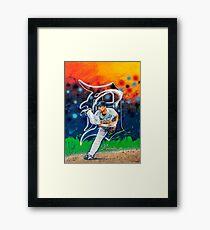 """Justin Verlander """"Smokin"""" Framed Print"""