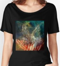 American Patriot Wolf Women's Relaxed Fit T-Shirt