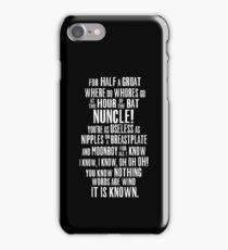 ASOIAF Phrases iPhone Case/Skin