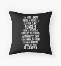 ASOIAF Phrases Throw Pillow