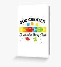 God Love Autism Kids Greeting Card