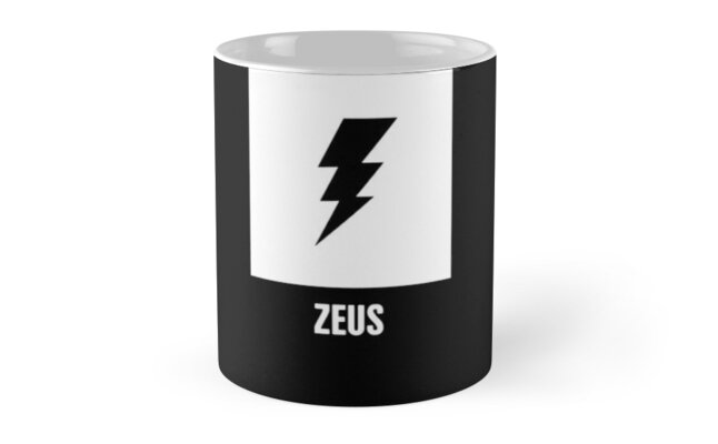 Zeus Greek Mythology God Symbol Mugs By Nathan Darks Redbubble