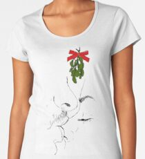Kiss my nose under the mistletoe Women's Premium T-Shirt