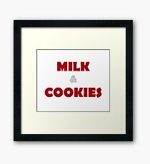 Simple Festive Milk & Cookies Framed Print