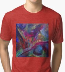 """Autumn River"" original artwork Tri-blend T-Shirt"