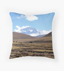 Shishapangma Base Camp Tibet 4850m Throw Pillow