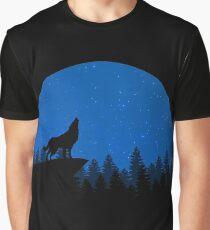 Night Wolf Graphic T-Shirt