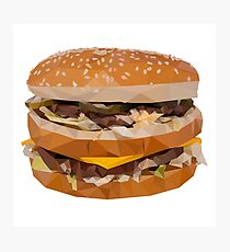 Cheese Burger in Polygons Photographic Print