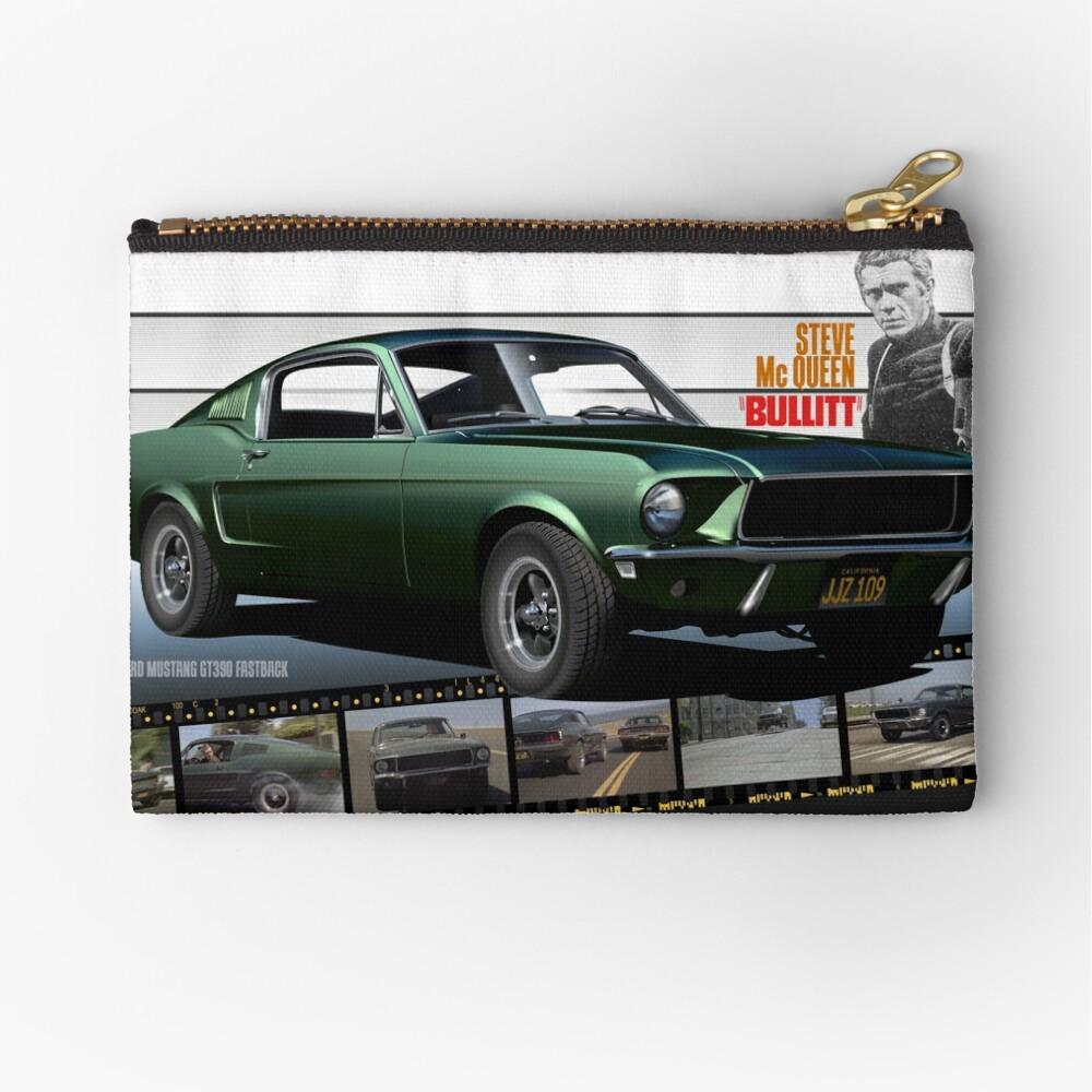 Steve mcqueen bullitt 1968 ford mustang zipper pouch