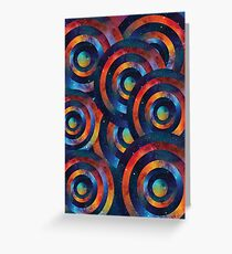 Psychedelic Space Circles Greeting Card