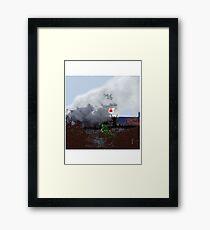Vietnam Soldier - Huey Landing. 1966. Framed Print