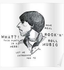 Keith Moon Profile - Graphic Portrait (with lyrics!) Poster