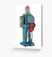 Buy Vintage Tinplate Toy Robot on T shirts - Phone cases- Pillows Greeting Card