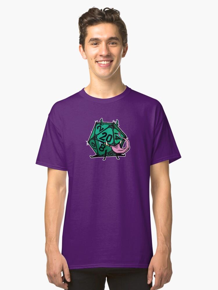 D20 dice mimic pup GREEN Classic T-Shirt Front