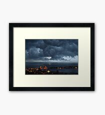 Stormy Duluth Framed Print
