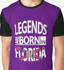 Florida State Cool Gift-Legends are born in Florida-Awesome Pride Present Graphic T-Shirt