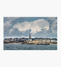 Beautiful autumnal view of St-Malo, old pirate city, France Photographic Print
