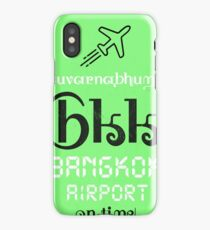 BKK Bangkok airport code iPhone Case/Skin