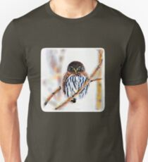 Winter Owl Watercolor  T-Shirt