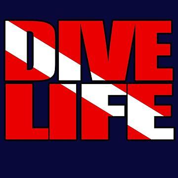 Dive Life | Diver Down Flag SCUBA Diving Lifestyle by RealPilotDesign