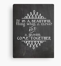 Career and Passion Canvas Print