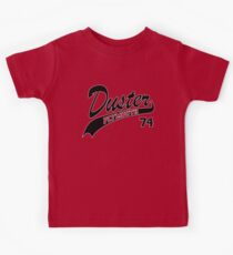 74 Plymouth Duster - White Outline  Kids Clothes