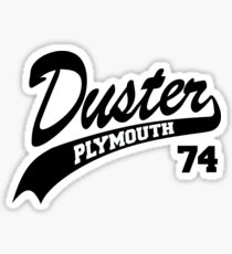 plymouth duster stickers redbubble Dodge Girl Decals 74 plymouth duster white outline sticker