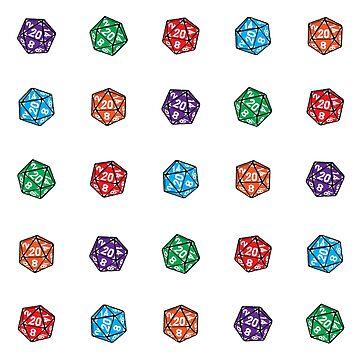 D20 Multiple Dice Linear by GrimsD20s