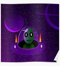 Alien space Poster