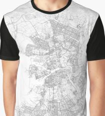 St. Petersburg, Russia Map Graphic T-Shirt