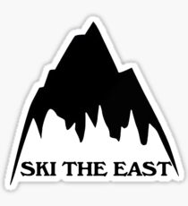 SKI THE EAST SKIING SKI CLIMBING HIKING BIKING SNOWBOARDING SNOW Sticker