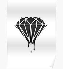Black diamonds Poster