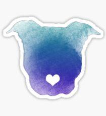 Aquarell Pitbull Liebe Sticker