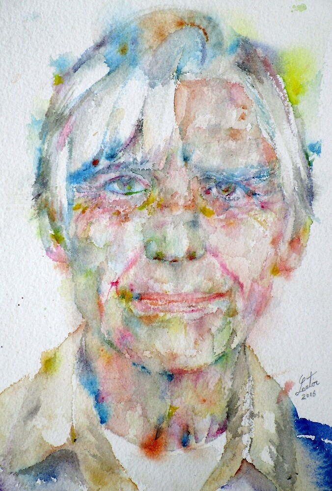 WILLEM DE KOONING - watercolor portrait by lautir