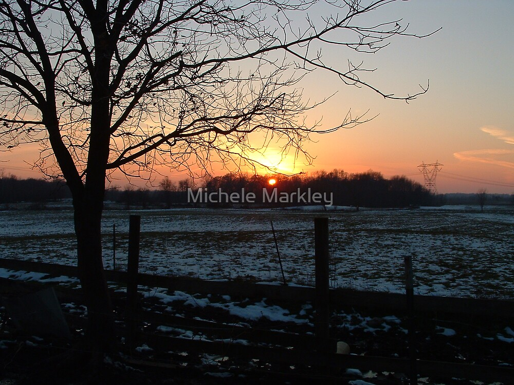 Thanksgiving Sunset by Michele Markley
