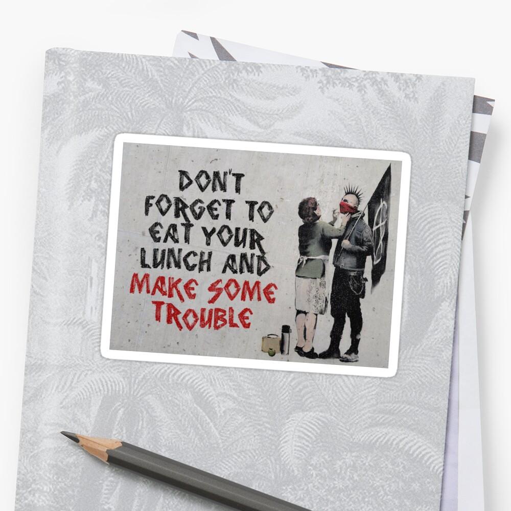Banksy, anarchist Stickers