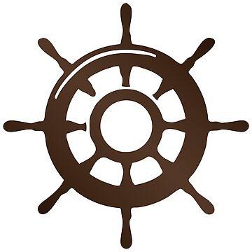 Pirate Ship Wheel Sticker by pirateslife