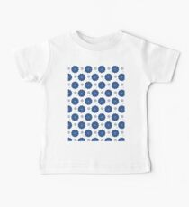 Dark Blue Flowers Kids Clothes