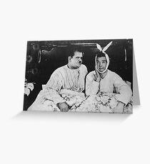 Tarjeta de felicitación Laurel y Hardy