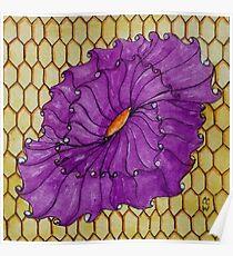 Honey Flower Zentangle 283 Poster