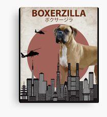 Boxerzilla - Giant Boxer Dog Monster Canvas Print