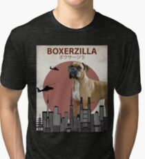 Boxerzilla - Giant Boxer Dog Monster Tri-blend T-Shirt