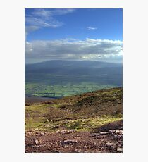 View from Trail up to top of Slievenamon, Tipperary Photographic Print
