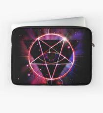 Space Demon 2049 - Evil Synthwave Sigil Laptop Sleeve