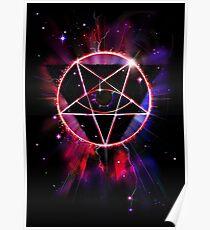 Space Demon 2049 - Evil Synthwave Sigil Poster